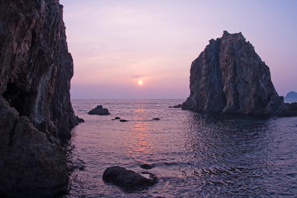 須崎海岸の夕日
