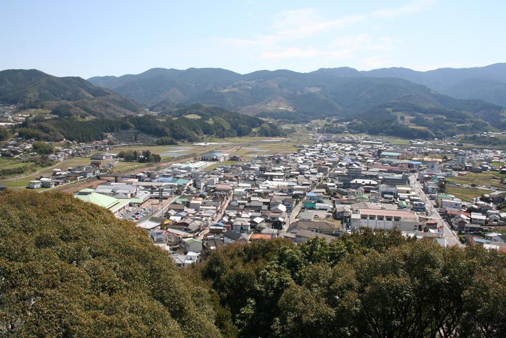 愛宕山公園高台からの眺め
