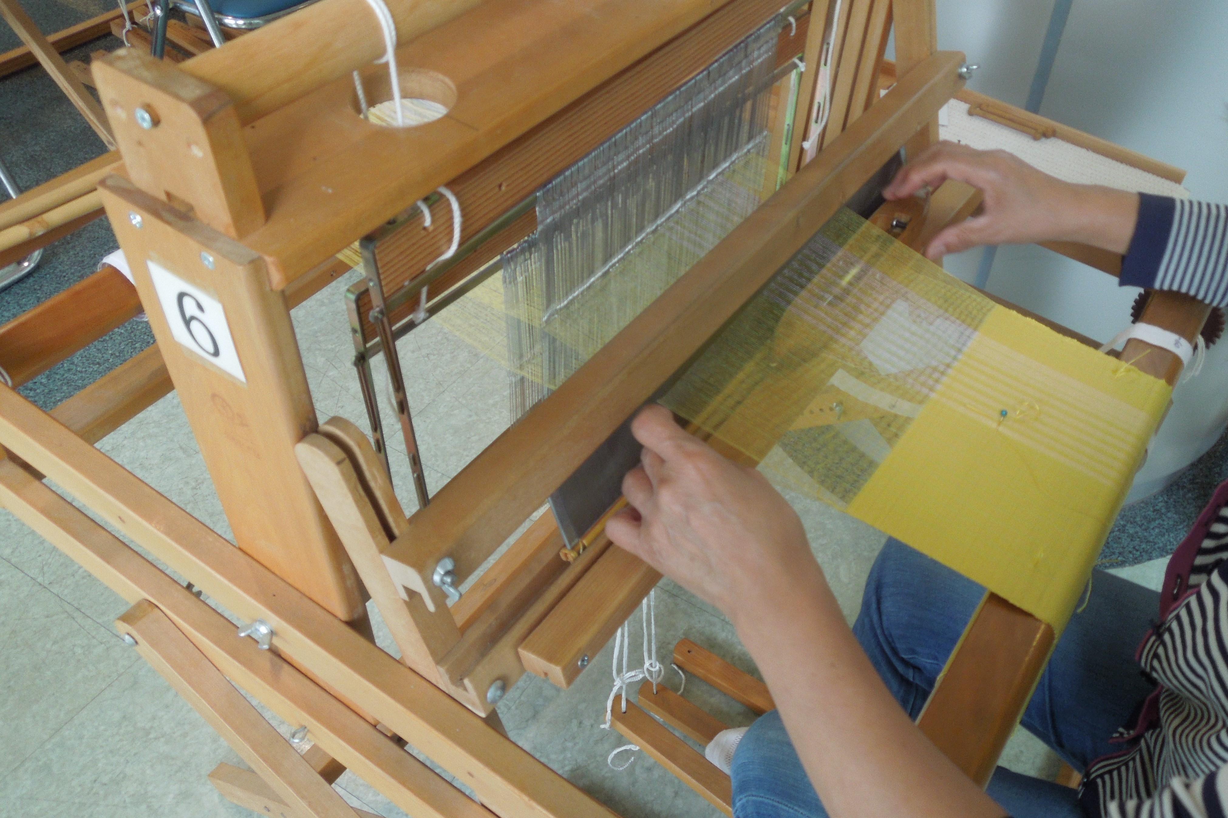 ショール織り体験
