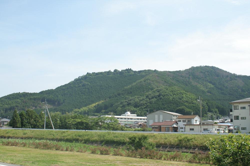 麓から眺める松葉城