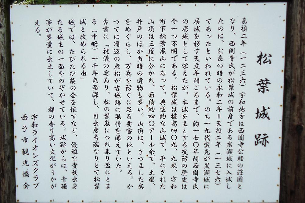 松葉城の歴史案内(下松葉登山口にて)